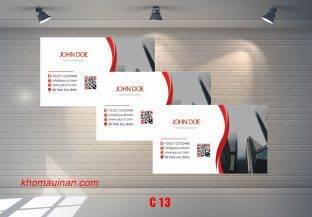 Bộ sưu tập mẫu name card kinh doanh Mẫu C13