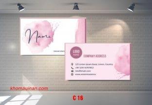 Bộ sưu tập mẫu name card kinh doanh Mẫu C16