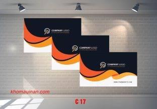 Bộ sưu tập mẫu name card kinh doanh Mẫu C17