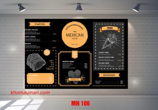 Mẫu Menu MN 106