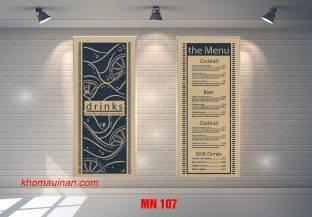 Mẫu Menu MN 107
