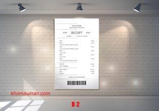 Mẫu sưu tập hóa đơn – B 2